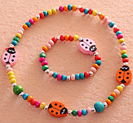 Colorful Beetles monili della ragazza (Necklace & Bracelet) (colore casuale)