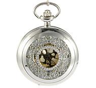 Men's Pocket Watch Quartz Band Vintage Silver