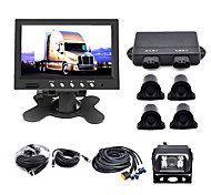 Truck Or Bus  Parking System With 7 Inch Tft LCD Monitor, 4  Radar Parking Sensor  And Camera-- Buzzer Alarm