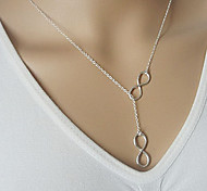 Fashion (Number Pendant) Multicolor Alloy Pendant Necklace(Silver,Golden) (1 Pc)