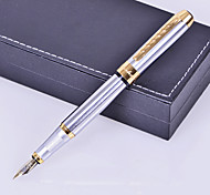 Personalized Gift Premium Business Style Silver Metal Engraved Ink Pen