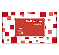 200pcs Personalized 2 Sides Printed Matte Film Red Abstract Pattern Business Card
