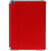 Solid Color Three Fold Sleep/Wake Up Full Body Case with Stand for iPad Air (Assorted Colors)