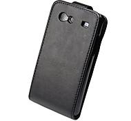 Elegant Ultrathin PU Leather Flip Case Cover for Samsung Galaxy S Advance I9070-Black