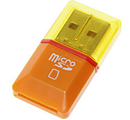 Mini Universal Memory Card Reader (Black/Green/Orange)