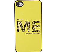 The Formation of ME Pattern PC Hard Case with 3 Packed HD Screen Protectors for iPhone 4/4S