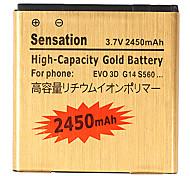 2450mAh batterie de téléphone portable pour BG86100 EVO 3D Amaze 4G 35H00166-01M, HTC Evo 3D/Tmobile Amaze 4G/G14 Sensation 4G