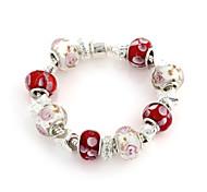 Sweet 6.3cm Women's red,white Crystal Strand Bracelet (1 Pc)