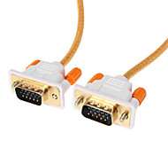 VGA 3+6 Male to Male Video Cable OD 4.2mm Orange(1.5M)
