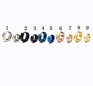 Fashion (Round Shape) Multicolor Titanium Steel Stud Earrings(Silver,Black,Blue,Gold,Rose) (1 Pc)