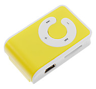 Tarjeta TF MP3 Player con lector de bolsa del clip amarillo y blanco
