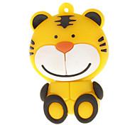 USB 16G tigre lindo de la historieta formó la impulsión del flash