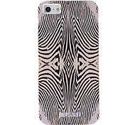 Fashionable Beige Zebra Print Pattern Smooth Anti-shock Case for iPhone 5/5S