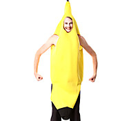 Fantastic Banana Yellow Polyester Men's Carnival Party Costume