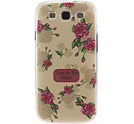 Red Peony Pattern Plastic Protective Hard Back Case Cover for Samsung Galaxy S3 I9300