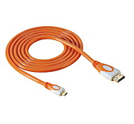 HD-143-O Micro HDMI a HDMI 1.4 Cable HDTV para DC DV Tablet