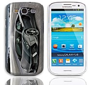 Racer Pattern Hard Case with 3-Pack Screen Protectors for Samsung Galaxy S3 I9300