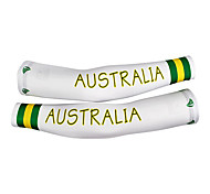 KOOPLUS - Australian National Squadra Polyester + Lycra Bianco + Verde Ciclismo Oversleeve