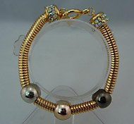 Fashion Gold Alloy with Crystal Bracelet for Women