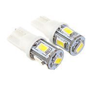T10 6x5730SMD Cool White Light LED Bulb for Car (12V,2 pcs)
