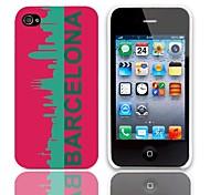 Barcelona Muster Hülle mit 3-Pack-Display-Schutzfolien für das iPhone 4/4S