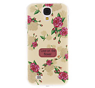 Pink Peony Pattern Plastic Protective Hard Back Case Cover for Samsung Galaxy S4 I9500