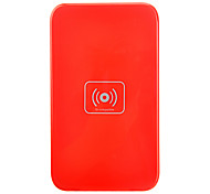 Qi Wireless Charger Red Pad ricarica con ricevitore nero per Samsung Galaxy Nota 2 N7100