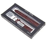 motif de bambou unisexe de 18mm de haute qualité véritable bande de montre en cuir (couleurs assorties)