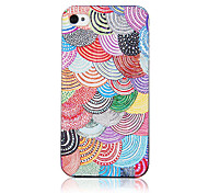 Original Fashion Colorful Scale Pattern Transparent Frame Back Case for iPhone 4/4S