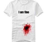 Men'S Funny T Shirt 3D recibido un disparo, pero estoy bien (100% algodón)