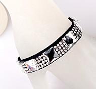 Square Diamond Ribbon White Bracelet