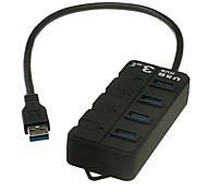 USB3.0 4 puertos de alta velocidad Hub