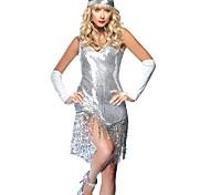 Partido Gatsby Menina Brilhantes Lantejoula Mulheres Carnaval Costume