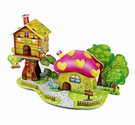 3D Puzzle  Mini Mushroom House Toy  for Kids