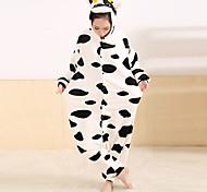 Cute Milk Cow Flannel Adult Kigurumi Pajama