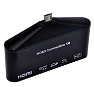 USB OTG SD TF Card Reader MHL to HDMI HDTV Adapter Camera Connection kit for Samsung Galaxy S3.S4.Note 2