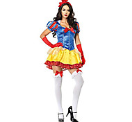 Snow White Princess Style Yellow & Red Women's Carnival Party Costume