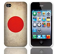 Vintage The Japanese Flag Design Hard Case with 3-Pack Screen Protectors for iPhone 4/4S