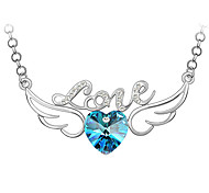 Love Angel Wings High-Quality Crystal Pendant Necklace