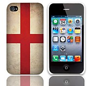 Vintage The Flag of ST. George Pattern Hard Case with 3-Pack Screen Protectors for iPhone 4/4S