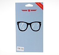 Glasses Pattern Front and Back Leather Screen Protector Stickers for iPhone 5/5S