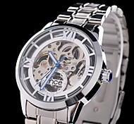 Dress Gentle Men's Fashion Skeleton Dial Automatic Mechanical Luxury Gift Wrist Watches