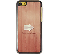 Arrow Indicating Keeping Moving Forward Pattern PC Hard Case with 3 Packed HD Screen Protectors for iPhone 5C