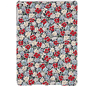 Big Red Flowers Pattern Textile Hard Case for iPad Air