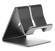 Holder Aluminium Metal Desk Stand per Universal Mobile Phone (nero)