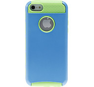 2-in-1 Design Solid Color Hard Case with Green TPU Inside for iPhone 5C (Assorted Colors)