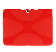Matte molle della pelle della copertura del silicone Custodia protettiva per Samsung Galaxy Tab3 10.1 P5200 P5210