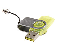 Mini USB Memory Card Reader (Red/Green/Yellow)