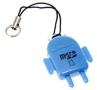 Mini Universal Memory Card Reader (Yellow/Blue)