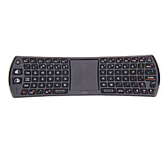 Rii I24T Mini inalámbrica de 2.4GHz Air Mouse 78-Key Combo teclado Touch Pad